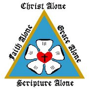 The Logo of the LMS-USA and the Pillars of Luther's Reformation: Christ Alone, Faith Alone, Grace Alone, Scripture Alone.