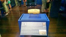 The Cyrus Cylinder in Houston's Museum of Fine Art on June 15th, 2013.  Mark Dankof photo.