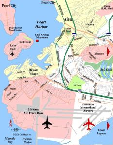 1972: Mark Dankof's Home at Hickam AFB was on Julian Ave on the Pearl Harbor Channel Entrance.